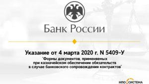 Формы документов, применяемых при казначейском обеспечении обязательств в случае банковского сопровождения контрактов