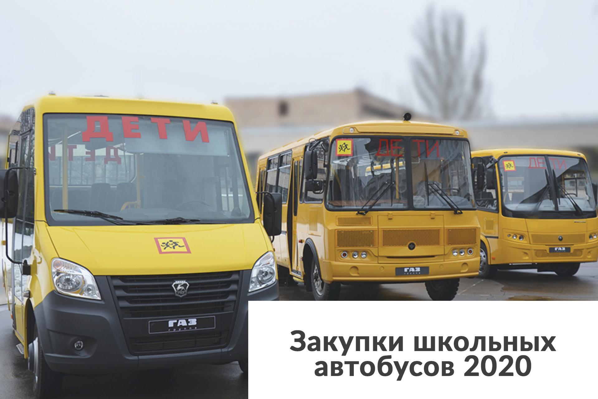 Закупки школьных автобусов 2020