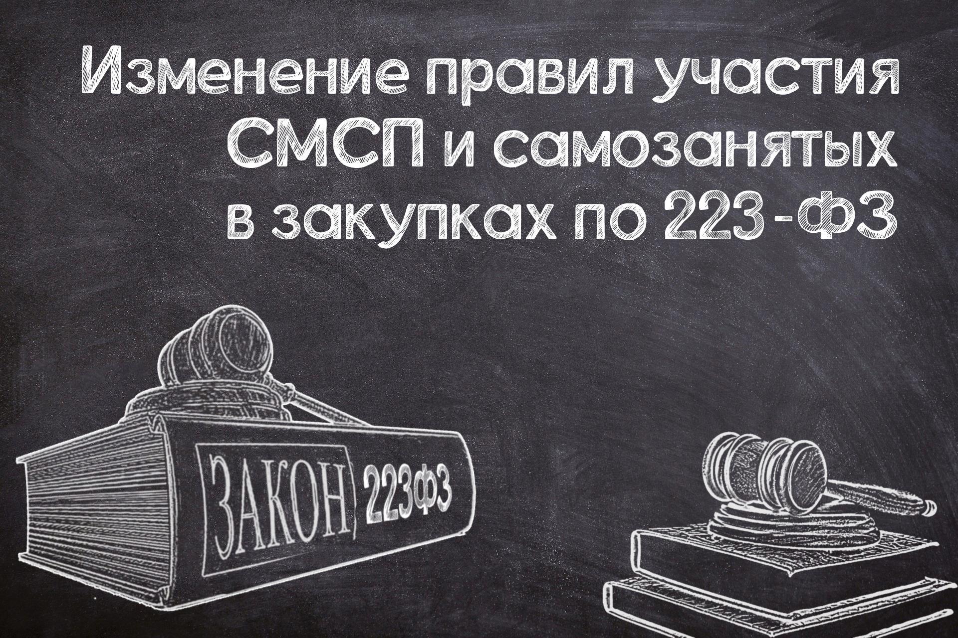 Минфин предложил изменить правила участия СМСП и самозанятых в закупках по № 223-ФЗ