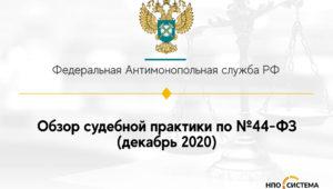 Обзор судебной практики по №44-ФЗ