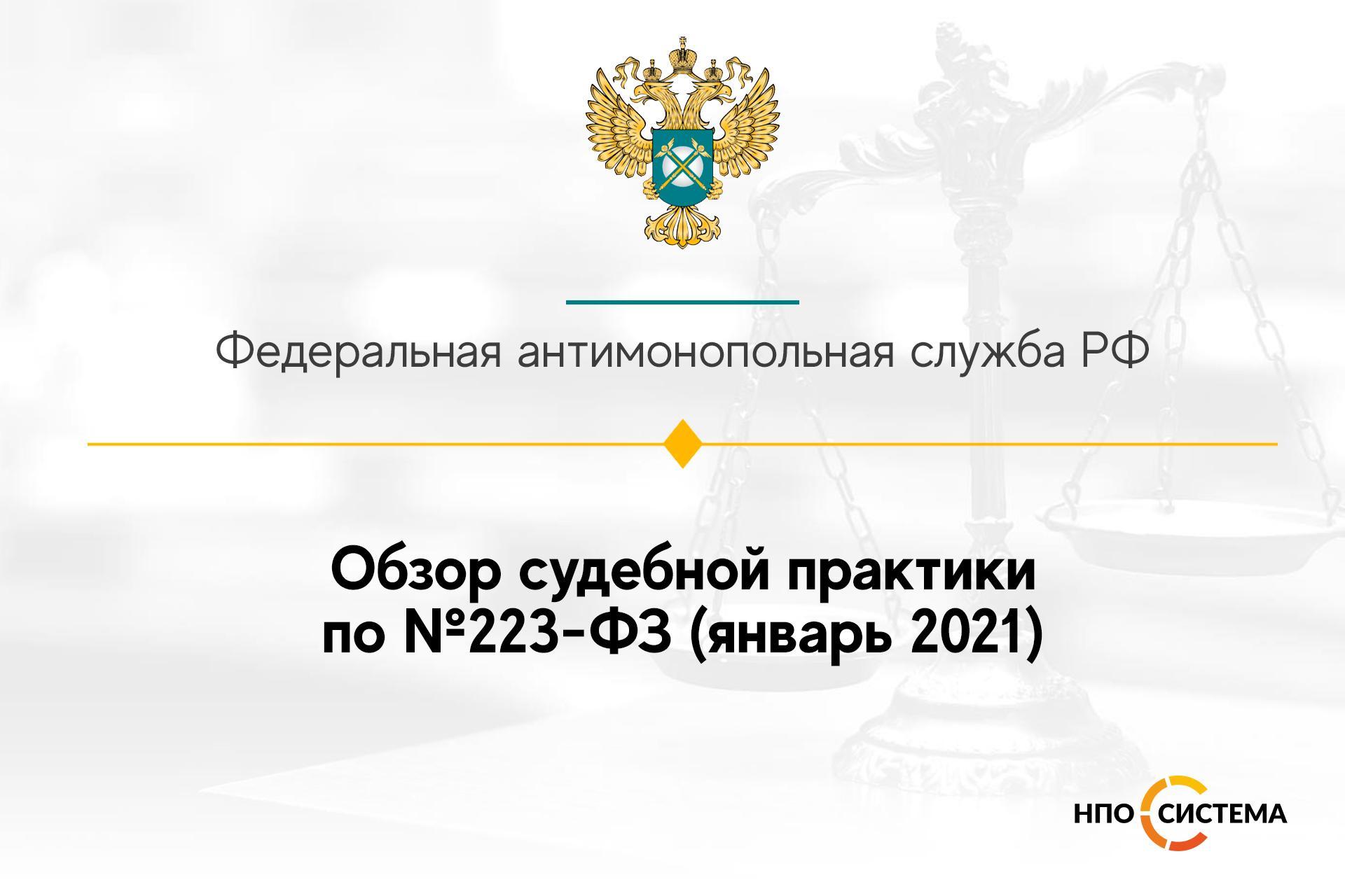 Обзор судебной практики по №223-ФЗ